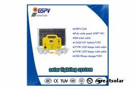GSPV1220 Solar lighting system for Africa